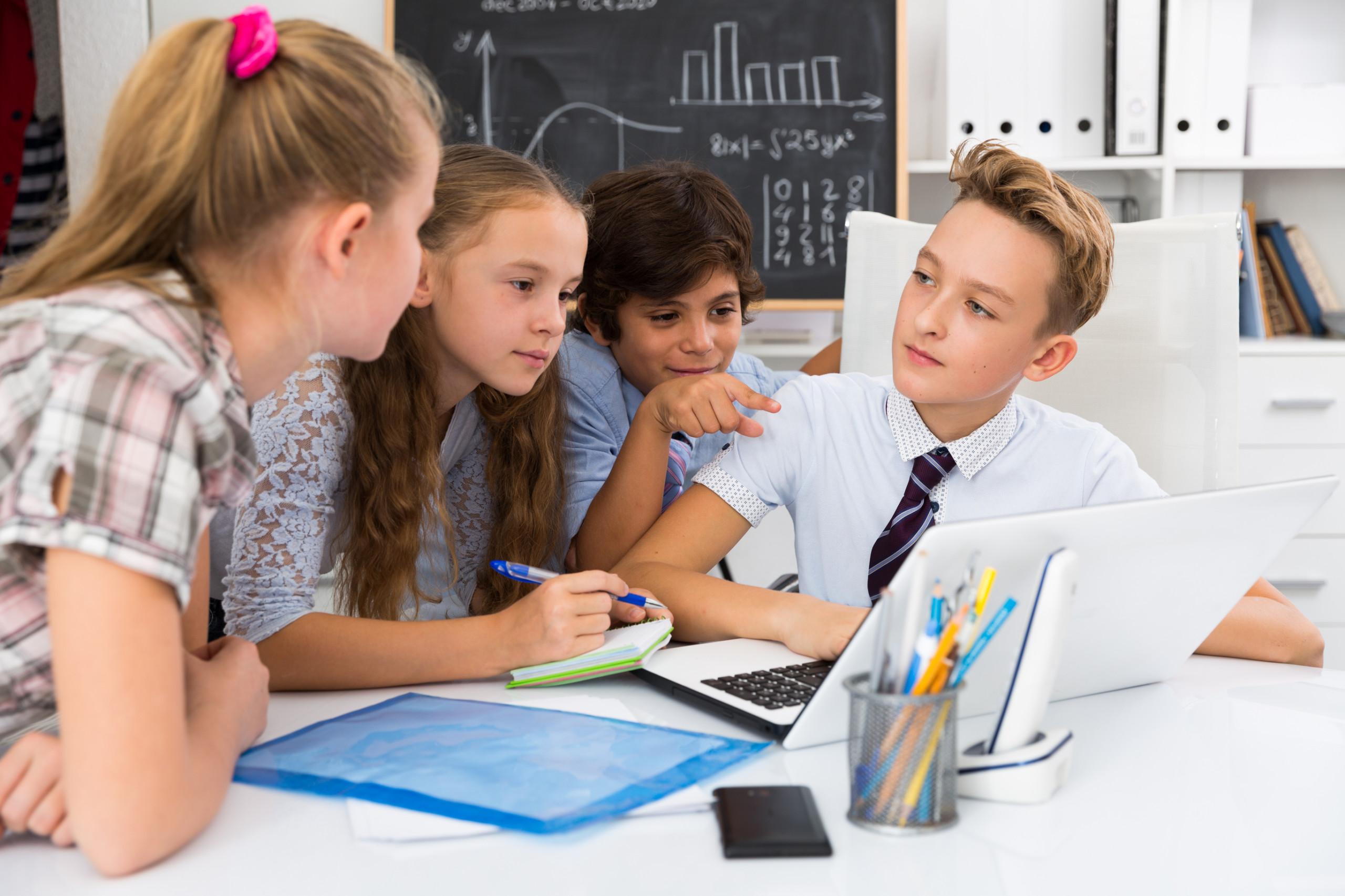 Kids Doing Digital Math